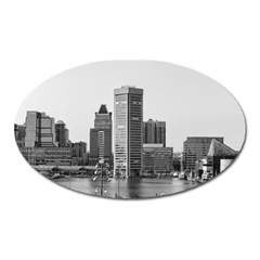 Architecture City Skyscraper Oval Magnet by Simbadda