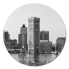 Architecture City Skyscraper Magnet 5  (round) by Simbadda