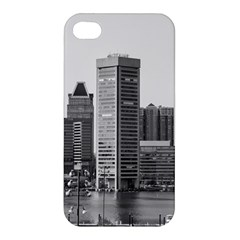 Architecture City Skyscraper Apple Iphone 4/4s Premium Hardshell Case by Simbadda