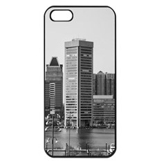 Architecture City Skyscraper Apple Iphone 5 Seamless Case (black) by Simbadda