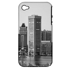 Architecture City Skyscraper Apple Iphone 4/4s Hardshell Case (pc+silicone) by Simbadda