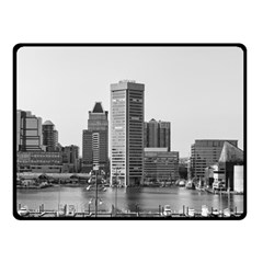 Architecture City Skyscraper Double Sided Fleece Blanket (small)