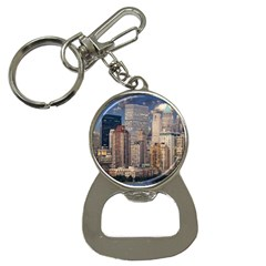 New York Skyline Manhattan Hudson Button Necklaces by Simbadda