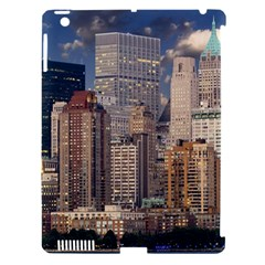 New York Skyline Manhattan Hudson Apple Ipad 3/4 Hardshell Case (compatible With Smart Cover) by Simbadda