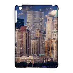 New York Skyline Manhattan Hudson Apple Ipad Mini Hardshell Case (compatible With Smart Cover) by Simbadda