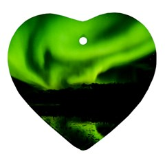 Aurora Borealis Northern Lights Sky Ornament (heart)