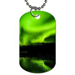 Aurora Borealis Northern Lights Sky Dog Tag (two Sides)