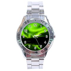 Aurora Borealis Northern Lights Sky Stainless Steel Analogue Watch by Simbadda