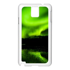 Aurora Borealis Northern Lights Sky Samsung Galaxy Note 3 N9005 Case (white) by Simbadda