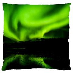 Aurora Borealis Northern Lights Sky Large Flano Cushion Case (two Sides)