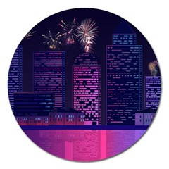 Architecture Home Skyscraper Magnet 5  (round) by Simbadda