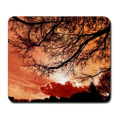 Tree Skyline Silhouette Sunset Large Mousepads