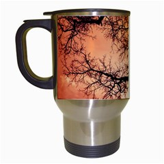 Tree Skyline Silhouette Sunset Travel Mugs (white) by Simbadda