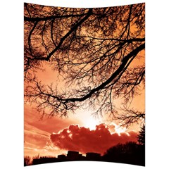Tree Skyline Silhouette Sunset Back Support Cushion