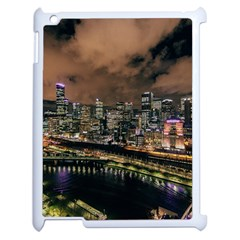 Cityscape Night Buildings Apple Ipad 2 Case (white) by Simbadda