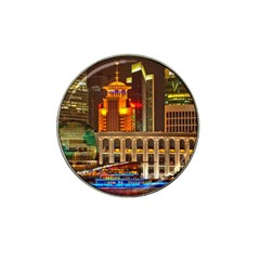 Shanghai Skyline Architecture Hat Clip Ball Marker (10 Pack)