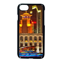 Shanghai Skyline Architecture Apple Iphone 7 Seamless Case (black)
