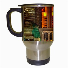 Shanghai Skyline Architecture Travel Mugs (white) by Simbadda