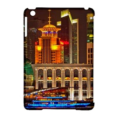 Shanghai Skyline Architecture Apple Ipad Mini Hardshell Case (compatible With Smart Cover) by Simbadda