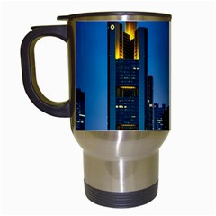 Frankfurt Germany Panorama City Travel Mugs (white) by Simbadda