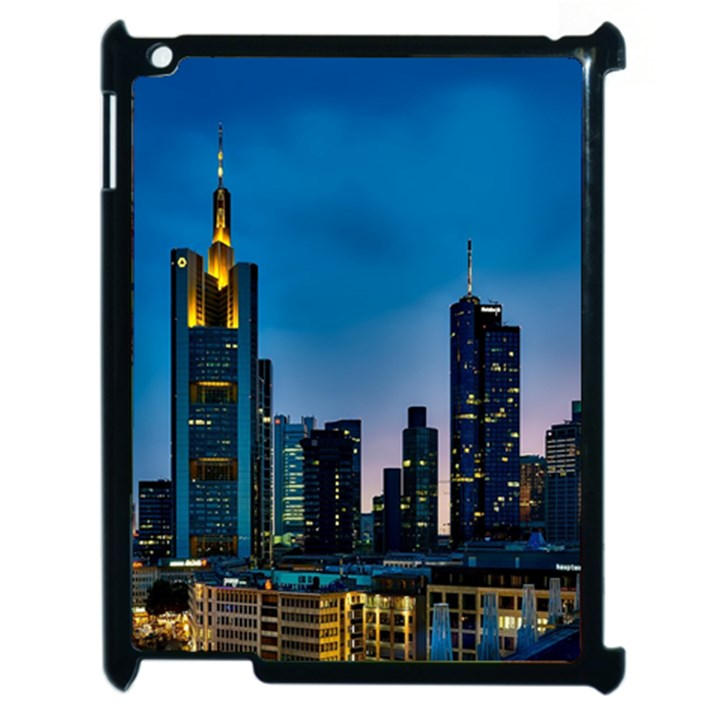 Frankfurt Germany Panorama City Apple iPad 2 Case (Black)