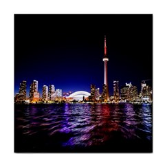 Toronto City Cn Tower Skydome Tile Coasters