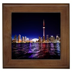Toronto City Cn Tower Skydome Framed Tiles