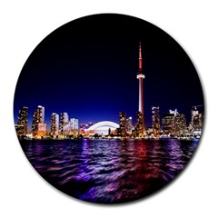 Toronto City Cn Tower Skydome Round Mousepads by Simbadda