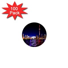 Toronto City Cn Tower Skydome 1  Mini Buttons (100 pack)