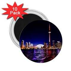 Toronto City Cn Tower Skydome 2.25  Magnets (10 pack)