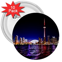 Toronto City Cn Tower Skydome 3  Buttons (10 pack)