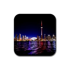 Toronto City Cn Tower Skydome Rubber Coaster (Square)