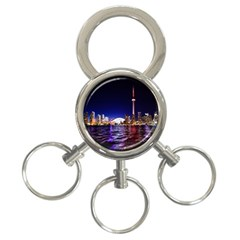 Toronto City Cn Tower Skydome 3-Ring Key Chains