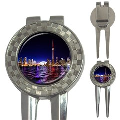 Toronto City Cn Tower Skydome 3-in-1 Golf Divots