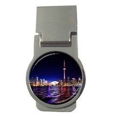 Toronto City Cn Tower Skydome Money Clips (Round)