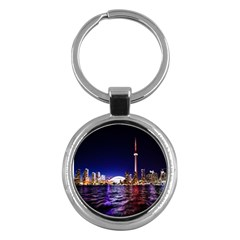 Toronto City Cn Tower Skydome Key Chains (Round)