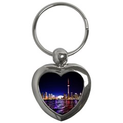 Toronto City Cn Tower Skydome Key Chains (Heart)