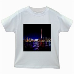 Toronto City Cn Tower Skydome Kids White T-Shirts