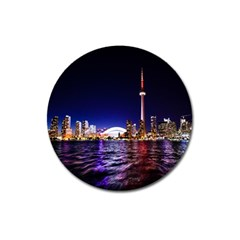 Toronto City Cn Tower Skydome Magnet 3  (Round)