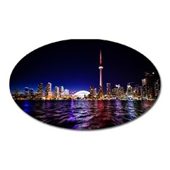 Toronto City Cn Tower Skydome Oval Magnet