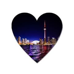 Toronto City Cn Tower Skydome Heart Magnet