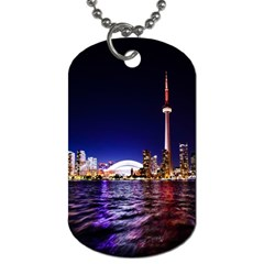 Toronto City Cn Tower Skydome Dog Tag (Two Sides)