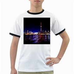 Toronto City Cn Tower Skydome Ringer T-Shirts