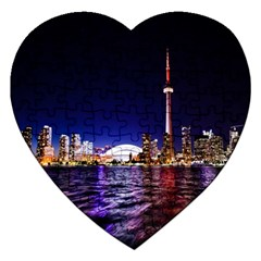 Toronto City Cn Tower Skydome Jigsaw Puzzle (Heart)