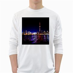 Toronto City Cn Tower Skydome White Long Sleeve T-Shirts