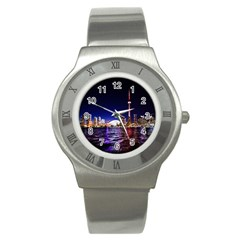 Toronto City Cn Tower Skydome Stainless Steel Watch