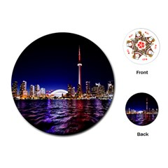 Toronto City Cn Tower Skydome Playing Cards (Round)