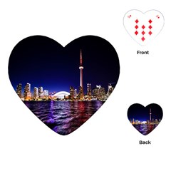 Toronto City Cn Tower Skydome Playing Cards (Heart)