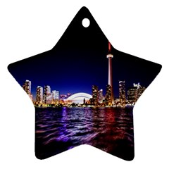 Toronto City Cn Tower Skydome Star Ornament (Two Sides)