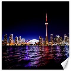 Toronto City Cn Tower Skydome Canvas 12  x 12